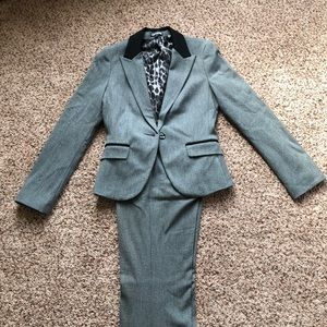 Express Gray & Black Suit —- will sell separately